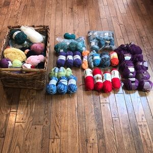 Lot of Yarns many name brands many colors